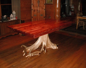 Red Cedar Dining Table   Sold   Will Build To Suit, Just Contact Me
