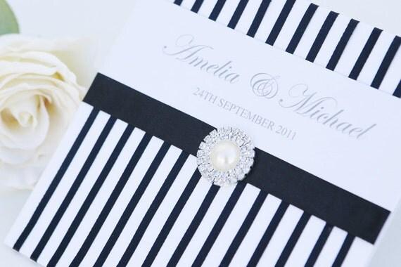 Wedding Invitation - The 'Ebony'