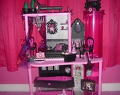 Ooak custom Monster High Draculaura themed castle