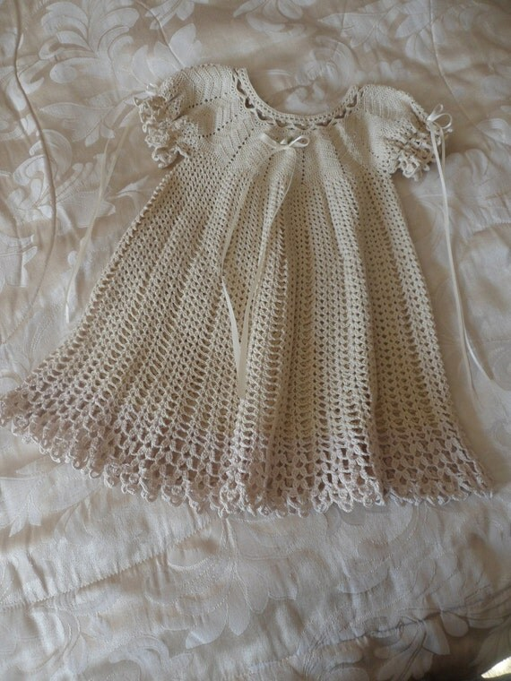 Crochet Baby Dress By Knittingknotnagging On Etsy