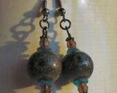 Earth Mother - ceramic bead earrings
