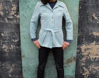Robin's Egg Blue Sweater Jacket