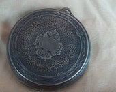 Reduced  Victorian Sterling Silver Ladies Powder Compact  Christmas