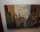 Watercolor and Acrylic Mixed Media Painting  Circa 1986  Thanksgiving, Black Friday, Cyber Monday, Christmas