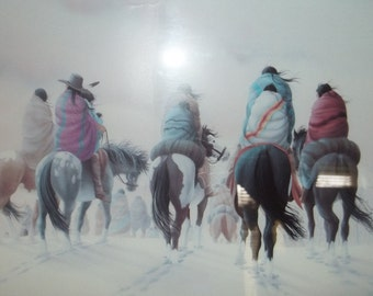 Cherokee Heritage Lithograph by Donald Vann    Thanksgiving, Black Friday, Cyber Monday, Christmas
