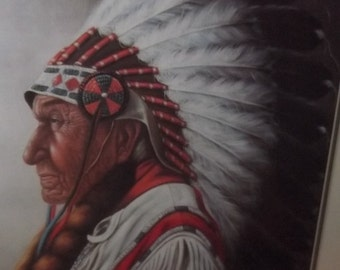 Native American Indian Chief Picture by Z. Garcia  Christmas