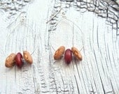 silver teardrop earrings // bean bead jewelry