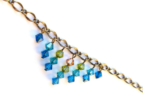SALE // 20% off // chevron necklace // swarovski crystal jewelry
