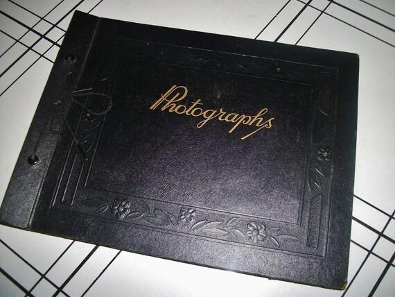 Vintage Black Photo Album