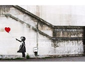 Banksy print.There is always hope London   England  photo street art  graffiti