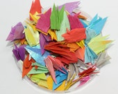 1000 colorful  Origami Paper Cranes filled with Love and Wishes adorn a colorful dreamful and romantic wedding room -5x 5cm