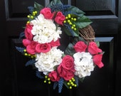 Blue, Pink and White Wreath
