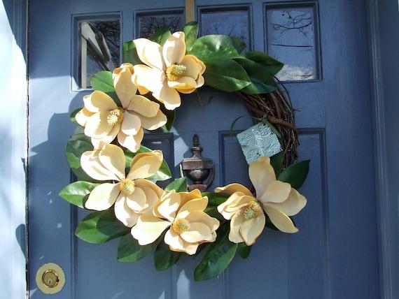 Magnolia Flower Door Wreath