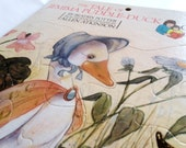 Vintage Jemima Puddle Duck Puzzle: Illustrated by Allen Atkinson 1986. Preschool Heavy Cardboard