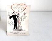 Art Deco 1920s Mechanical Card. Love On a Big Scale