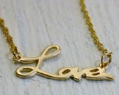 Handcrafted, Jewelry Necklace, Gold Love Necklace, Love Necklace, Gold Necklace, Dainty Necklace