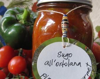 SUGO ALL'ORTOLANA - Gardener's Sauce  - 16 oz. jar