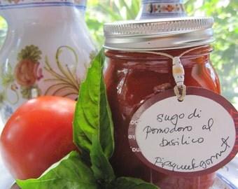 Sugo di pomodoro al Basilico - Tomato and basil sauce -  16 oz. jar