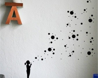"Wallsticker ""bubbling girl"""