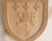 Coat of arms of the city of Lyon (France) - woodcut