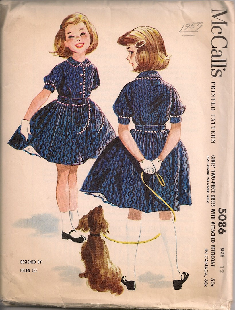 Vintage 1950 S Girls Dress With Attached Petticoat