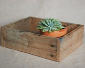 Rustic Wooden Box Made from Reclaimed Recycled Wood