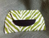 Bougie Bag- Green Zebra Stripe Clutch