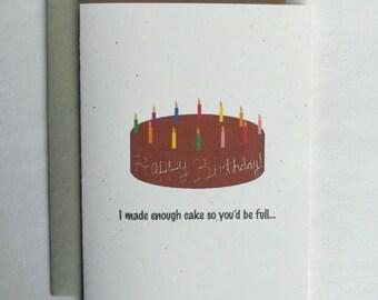 Birthday Card Funny Birthday Cake
