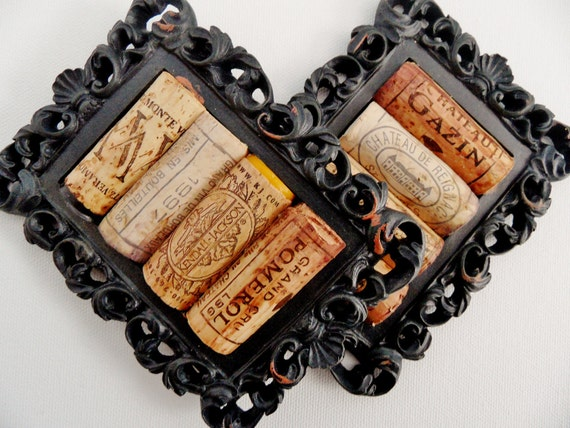 2 Black Rustic Cork Coasters (Set of 2)