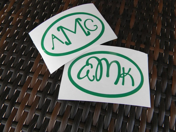 Monogrammed Car Decal Sticker