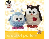 Mama and Baby Owl - Amigurumi crochet pattern
