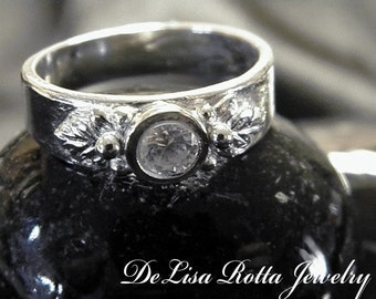 Recycled Silver, Diamond Alternative, Engagement Ring, Fashion Ring