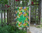 St Patrick's Day outdoor accent flag 13 x 20 with clover applique
