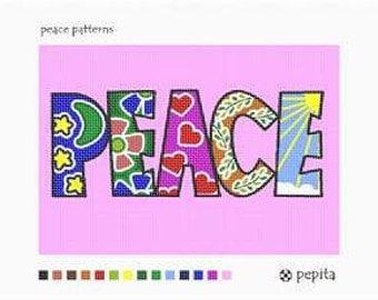 Peace Needlepoint Canvas