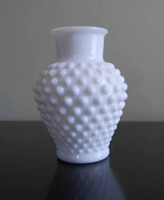 Vintage Hobnail Wrisley Vase by Fenton