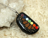 Chakra Pendant, Rainbow Pendant, Real Butterfly Pendant - Butterfly Conservation