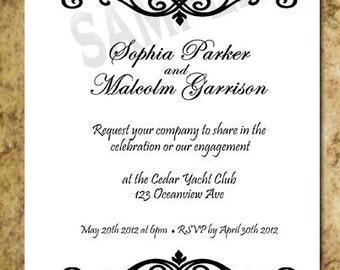 Wedding Engagement Announcement Invitation 5x7