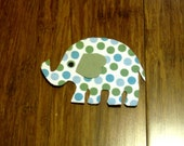 Elephant Iron On Applique