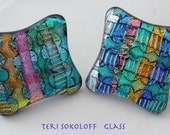 Fused Dichroic Glass Knobs