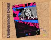 Digital File - 5x7 Rockstar Party Girl- Custom Personalized