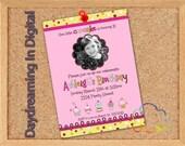Custom Personalized 5x7 Cupcake Birthday Digital Card