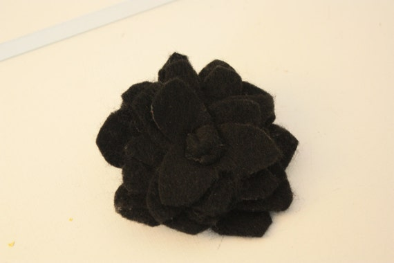 Felt Flower and wall hook  /  Handcrafted felt flower attached to a cubicle/wall hook