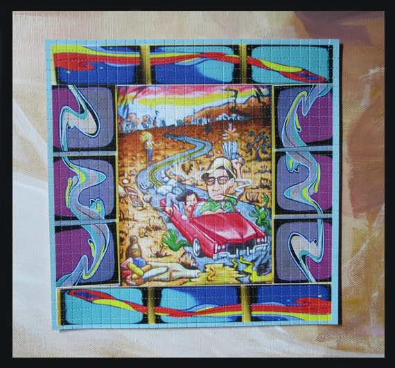 """Blotter Art / Hunter S. Thompson """"Fear and Loathing in Las Vegas"""" / Perforated Print"""