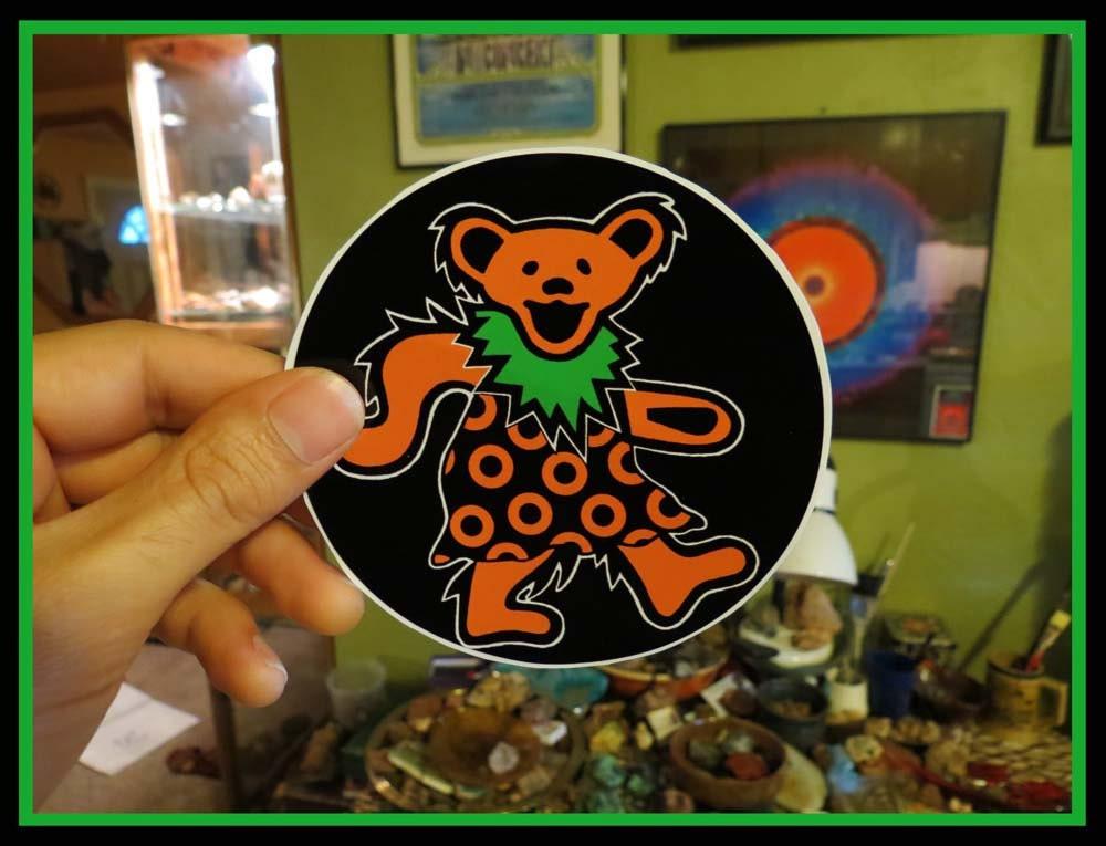 Dancing Fishman Bear Grateful Dead Phish On Black Series High