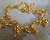 Sale 100pcs 17 inch 3mm gold  plated chain twist necklace in with lobster clasp From happinessshop