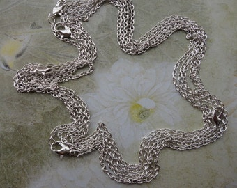 150pcs 2.0mm 17 inch silver plated chain necklace with lobster clasp