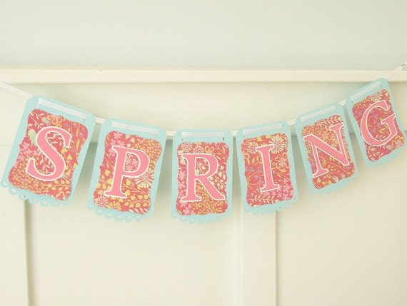 SPRING Banner Perfect for Easter Home Decor Photo Prop