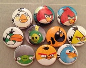"30 for shanna.  Pins. birds inspired 1"" flat back or pin back buttons. (25mm)"