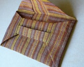 ORIGAMI CLUTCH - abaca bag in yellow mustard stripes
