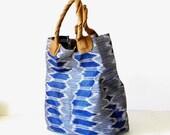 BAYONG - blue ikat tote bag